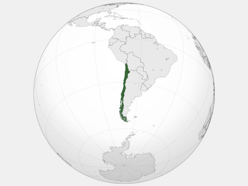 Republic of Chile locator map