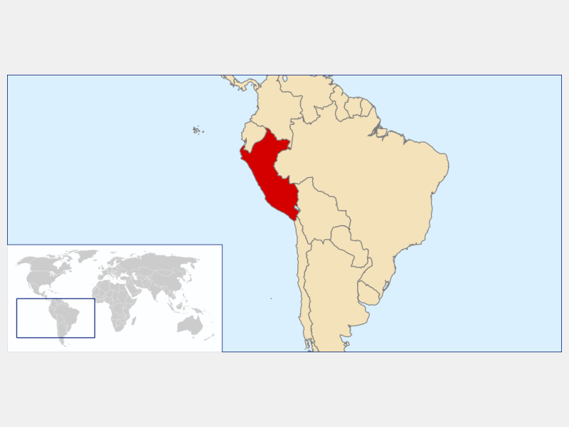 Republic of Peru locator map
