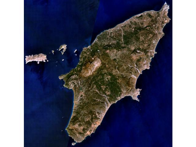 Rhodes NLT Landsat7 image