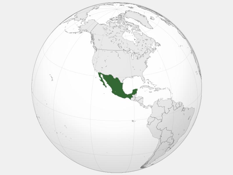 Mexico locator map