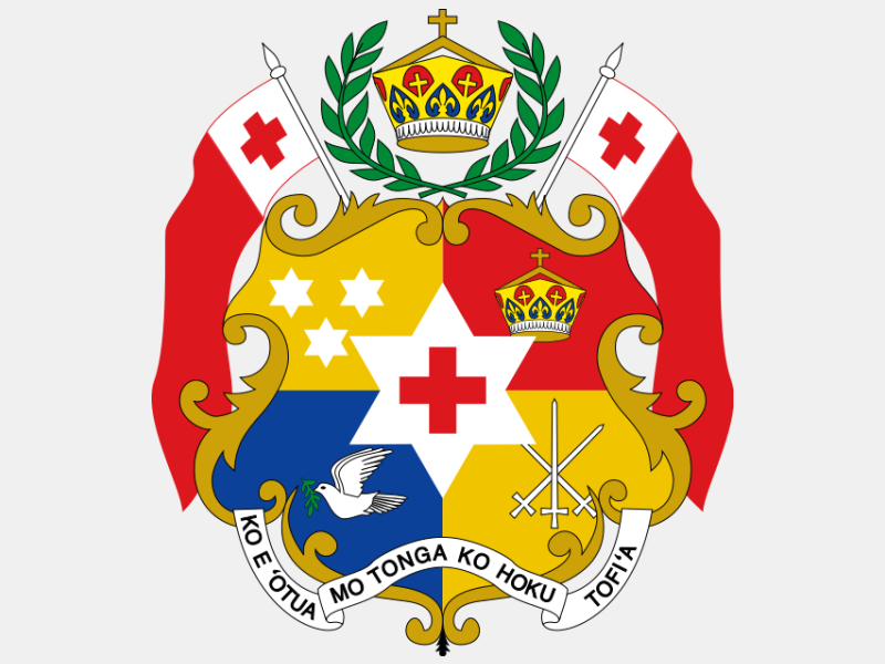 Coat of arms of Tonga coat of arms image