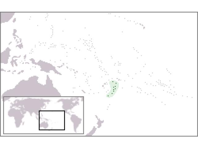 Kingdom of Tonga locator map