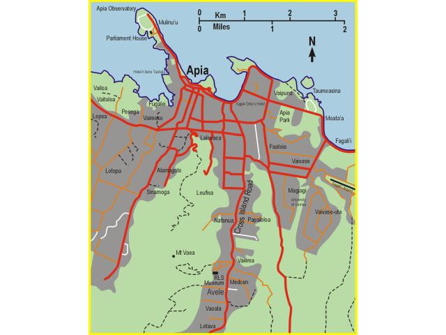 Apia locator map
