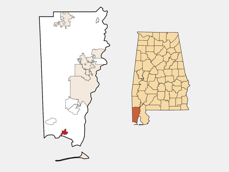 Bayou La Batre locator map