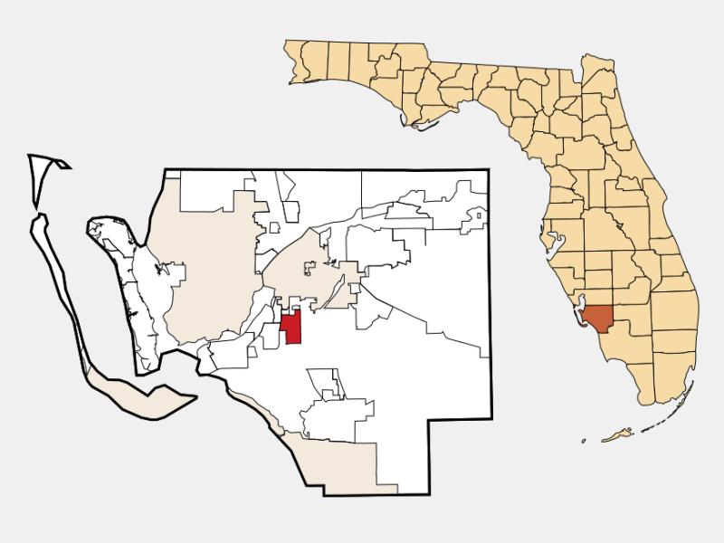 Villas location map