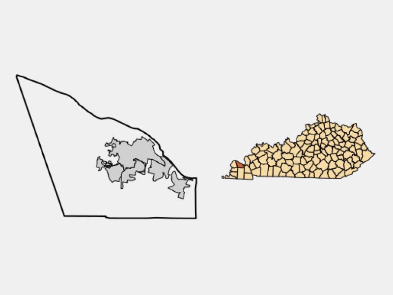 Paducah, KY locator map