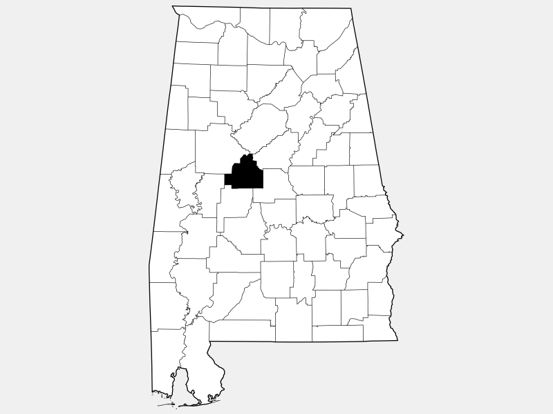 Bibb County locator map