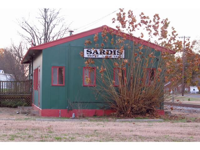 Train station in Sardis  Mississippi image