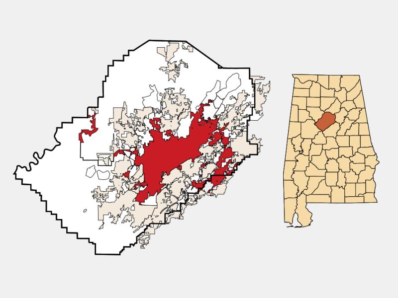 Birmingham locator map