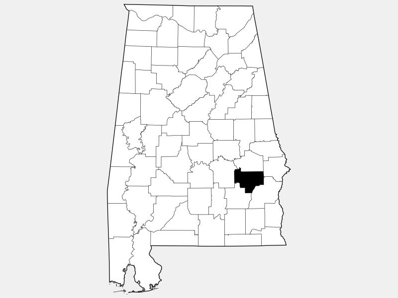 Bullock County locator map