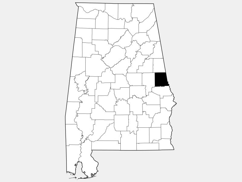 Chambers County locator map