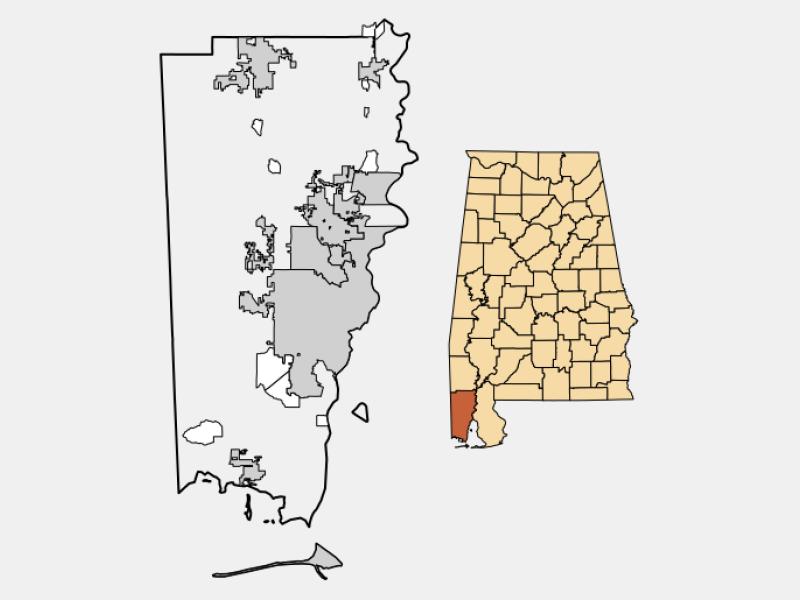 Chickasaw locator map
