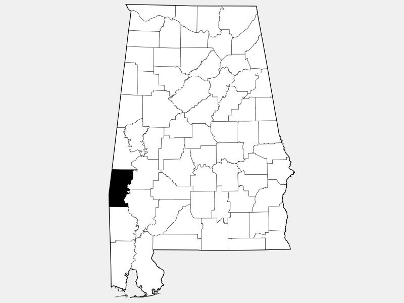 Choctaw County locator map