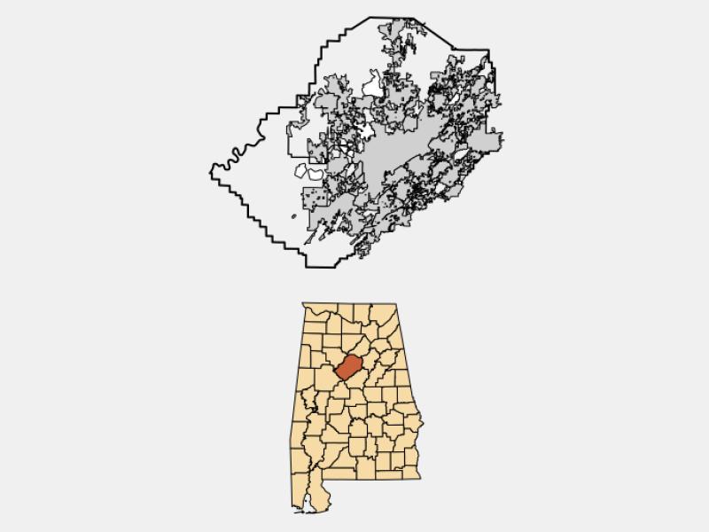 Clay locator map