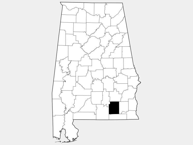Coffee County locator map