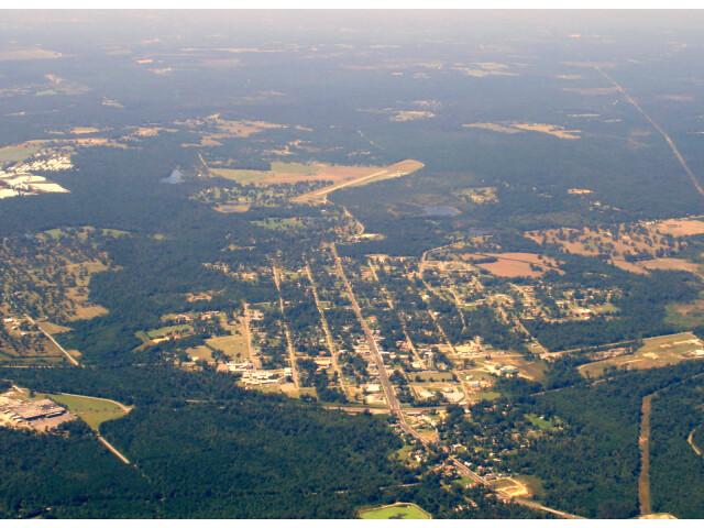 Elberta  Alabama from a plane image