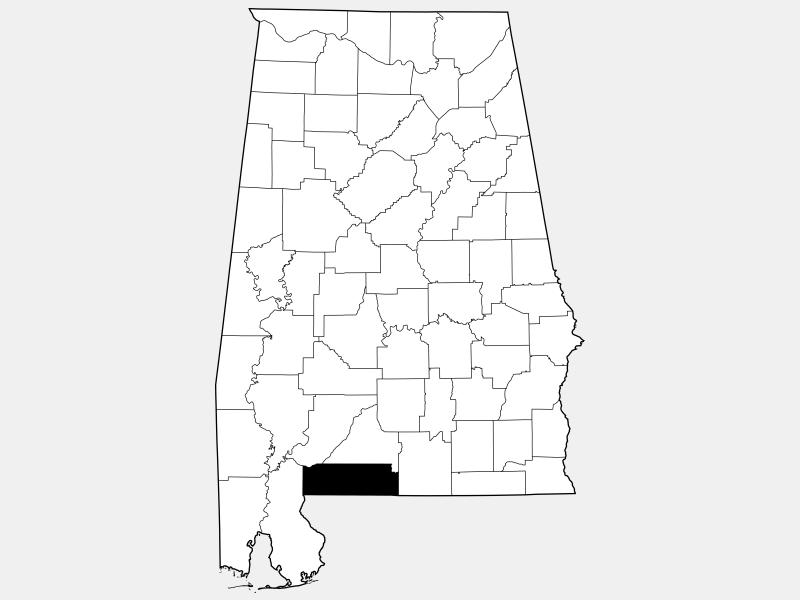 Escambia County locator map
