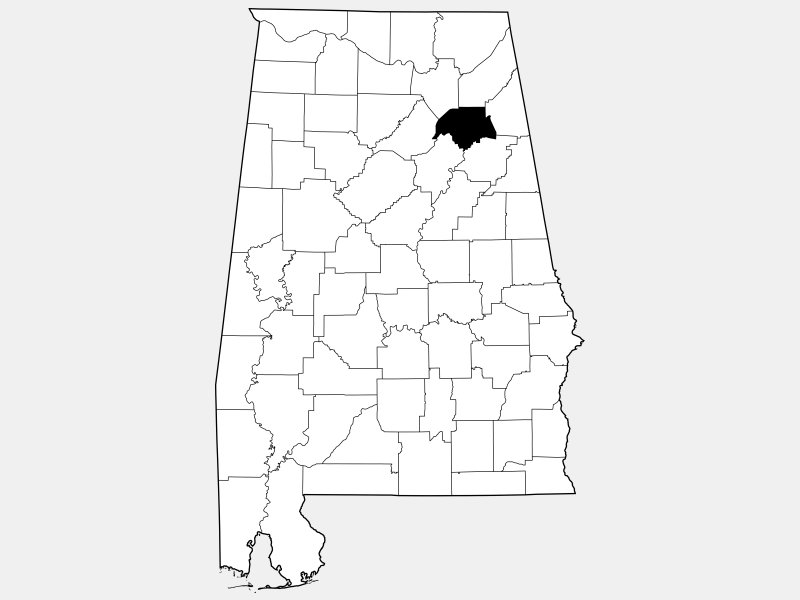 Etowah County locator map