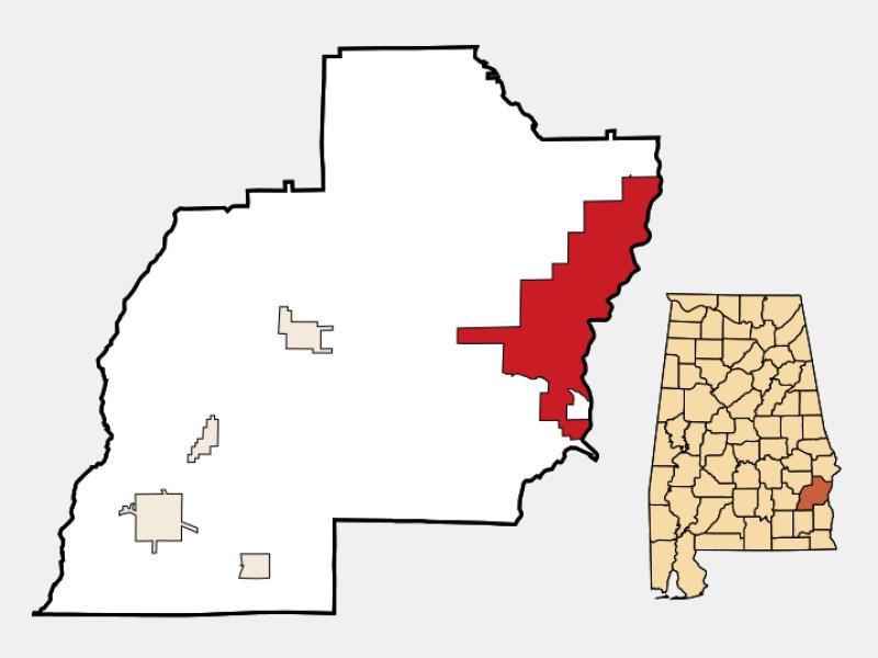 Eufaula locator map