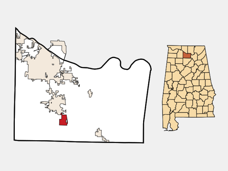 Falkville location map