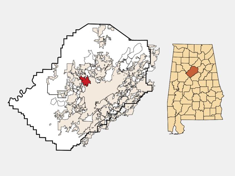 Forestdale locator map