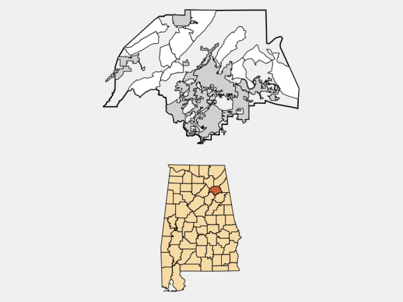 Gadsden locator map