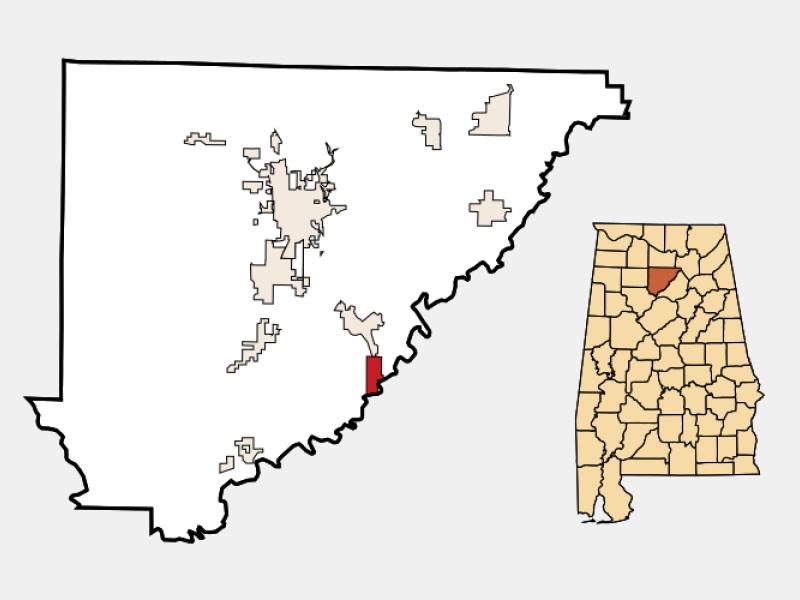 Garden City locator map