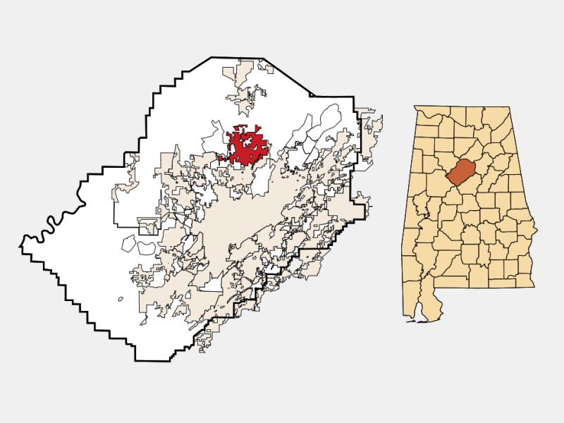 Gardendale locator map