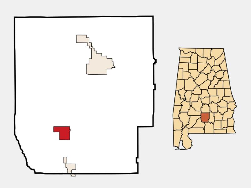Georgiana location map