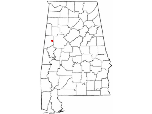 Gordo location map