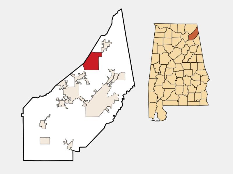 Henagar location map