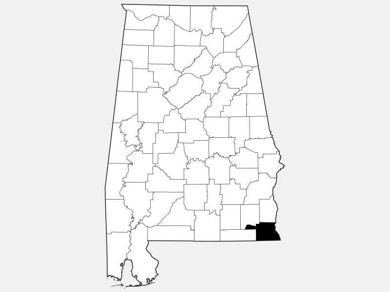 Houston County locator map