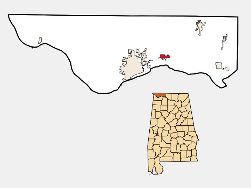 Killen locator map