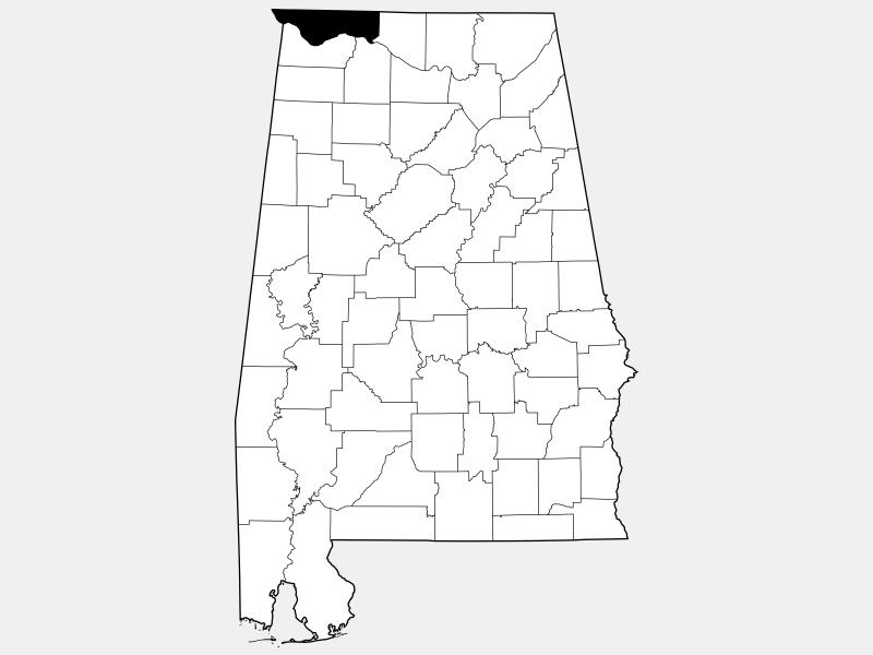 Lauderdale County locator map