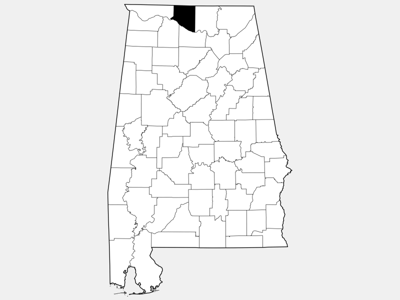 Limestone County locator map