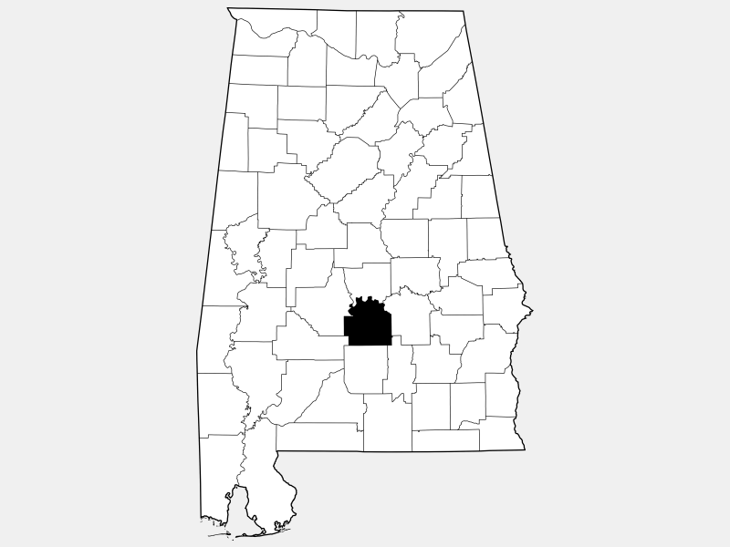 Lowndes County location map