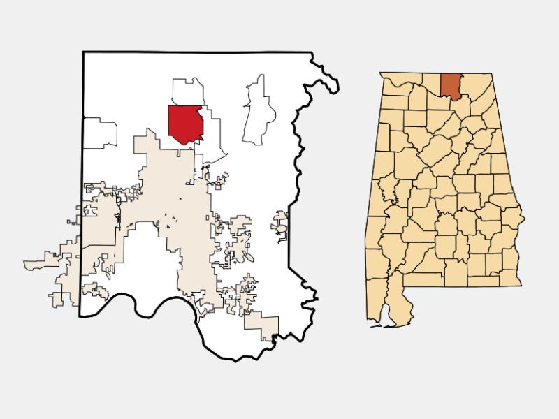 Meridianville locator map