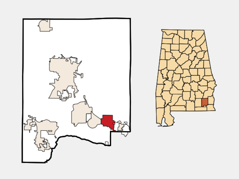 Midland City location map