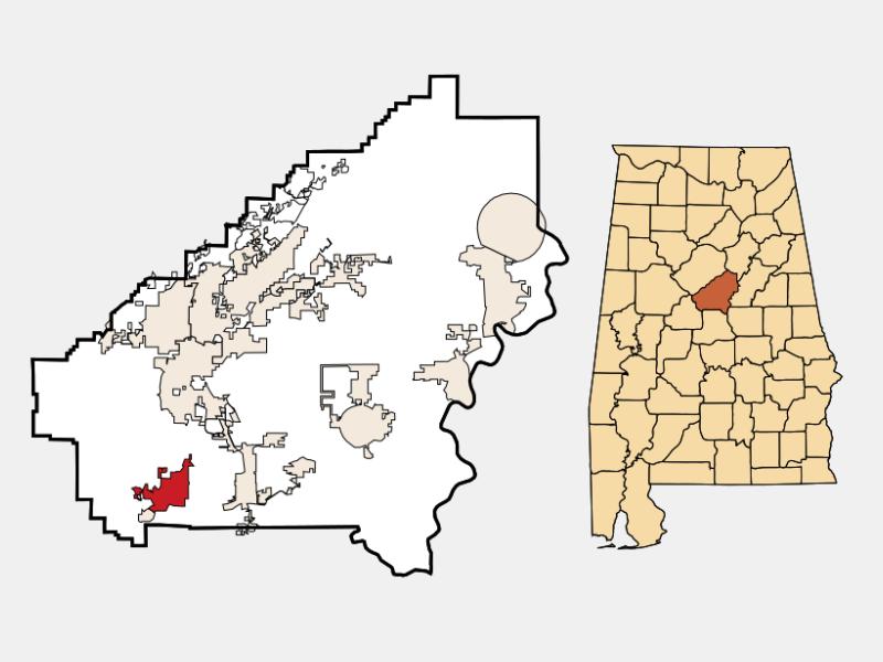 Montevallo locator map