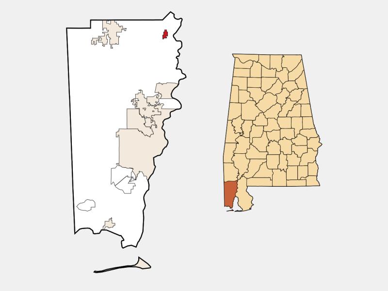 Mount Vernon locator map
