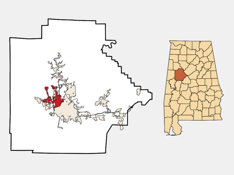 Northport locator map