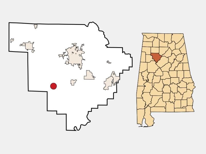 Oakman location map