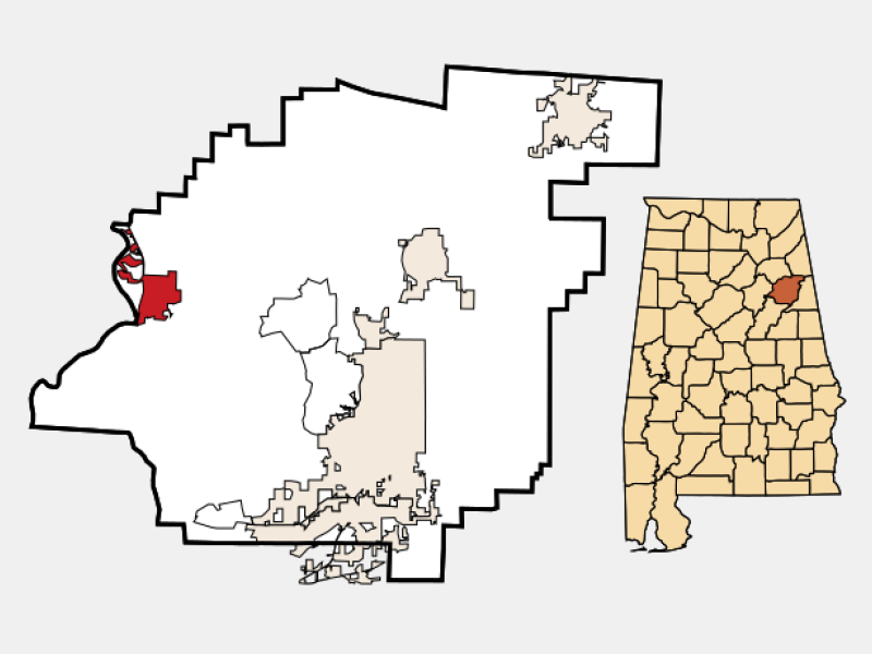 Ohatchee location map