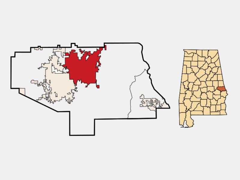 Opelika locator map