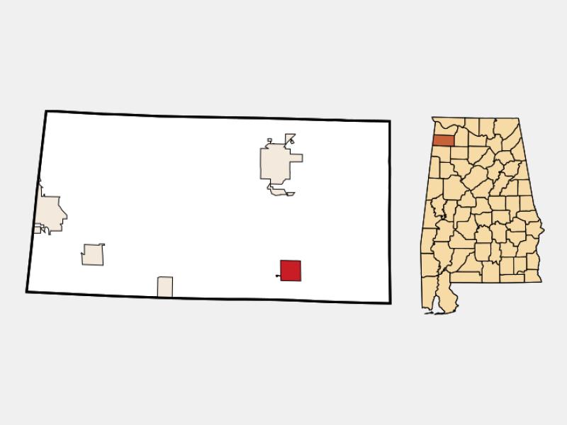 Phil Campbell locator map
