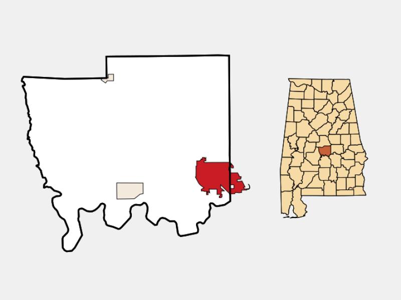 Prattville locator map