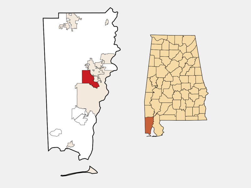 Prichard locator map
