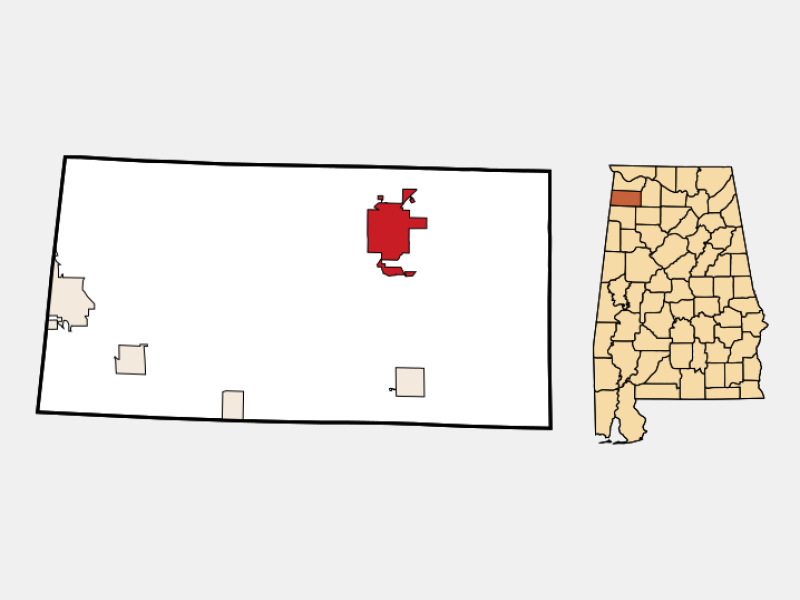 Russellville locator map