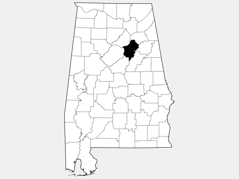 Saint Clair County locator map