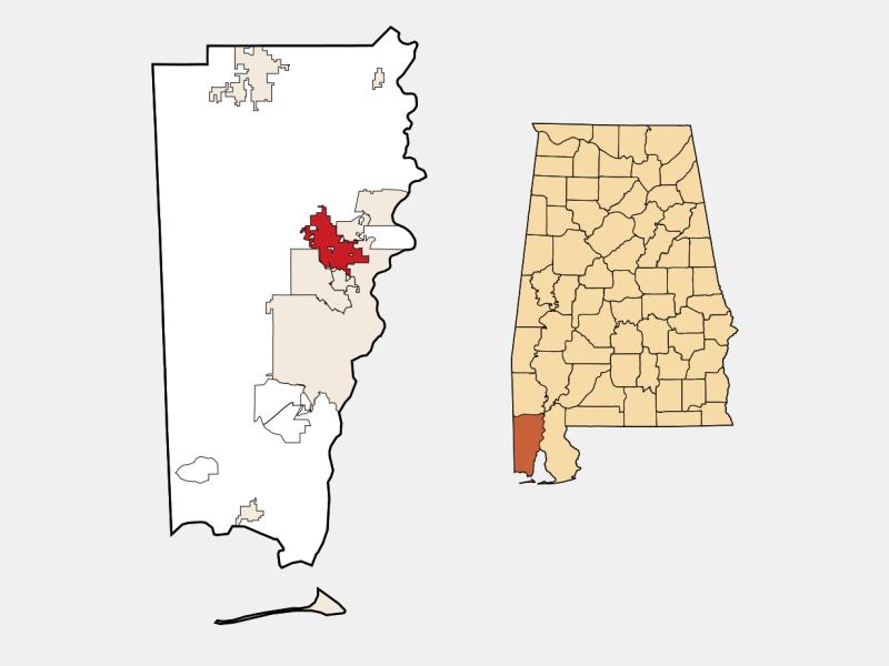 Saraland locator map